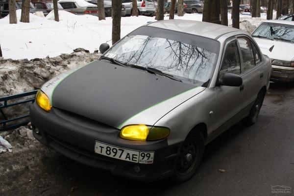 Автом с бронированными фарами