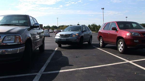 перпендикулярная парковка передом