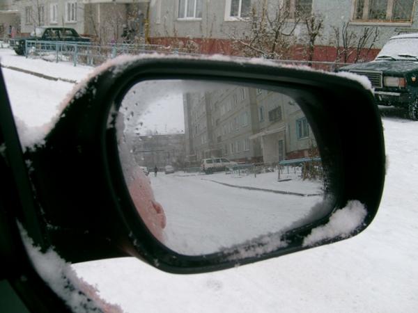 Зеркало после включения нагревателя