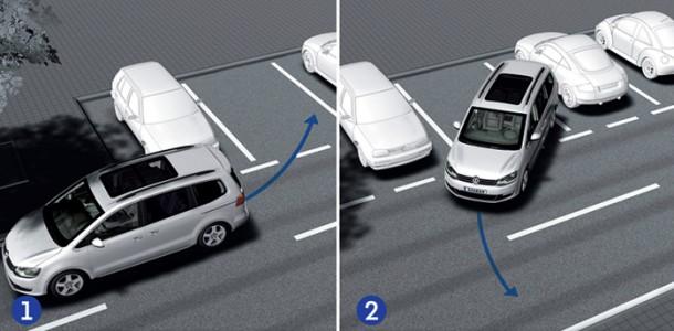 Перпендикулярная парковка задним ходом