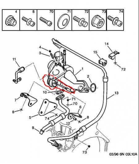 схема расположения в двигателе